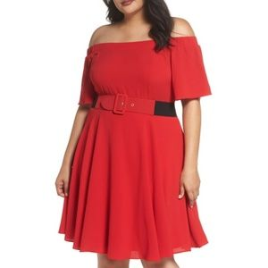 City Chic Lady Valarie Fit and Flare Dress Size 20